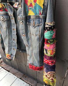 Items similar to jean jacket hippie boho embellished colorful denim jean jacket on Etsy Boho Gypsy, Boho Hippie, Jean Hippie, Gypsy Cowgirl, Ethnic Jewelry, Bohemian Jewelry, Denim Jeans, Blue Jeans, Denim Bag