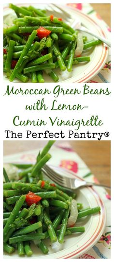 Moroccan green beans with a lemon-cumin dressing brighten up your holiday table. #vegan #glutenfree