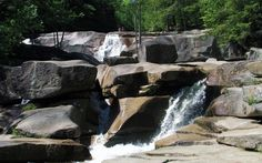 Diana's Baths, Bartlett, NH: This series of small waterfalls and granite-basin pools in the shadow of Big Attitash Mountain once powered a 19th-century sawmill. Nowadays, the waterway is part of White Mountain National Forest and a favorite swimming spot.
