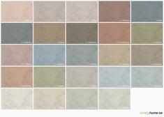 Kalkfärg är mycket populärt just nu vilket är förståeligt tack vare det eleganta utseendet. Snyggaste fondväggen just nu! Jotun Lady, Wall Colors, Colours, Kitchen Drawer Organization, Color Scale, Material Board, Color Magic, Color Schemes, Minerals