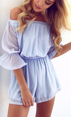 Trendy Style: 40 Ways To Look More Fashionable This Spring - striped dress summer outfits summer dress outfit blue summer dress outfit blue summer dress outfit outfits baby blue dress - blue dress outfit - Summer Blue Dresses 2019 Classy Outfits, Trendy Outfits, Cute Outfits, Fashion Outfits, Fashion Clothes, Summer Fashion Trends, Trendy Fashion, Womens Fashion, Trendy Style