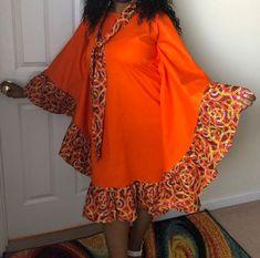 Ankara mix dress for Sale in Grayson, GA - OfferUp Ankara Long Gown Styles, Short African Dresses, African Blouses, Latest African Fashion Dresses, African Print Fashion, Design Your Own Clothes, African Traditional Wear, Kaftan Designs, African Attire