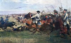 Charge of Colonel von Seydlitz's brigade at the battle of Rossbach.