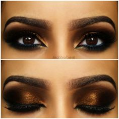 SUPER-HOT! Super Bronze With blue eyeliner arabic makeup