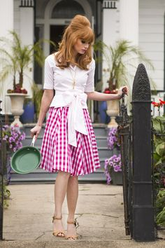 Southern Flair Skirt | Gardenias and Gingham by Shabby Apple