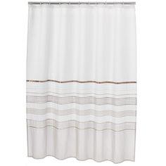NWOT Home Classics Shimmer Shower Curtain White Beige #HomeClassics #Modern