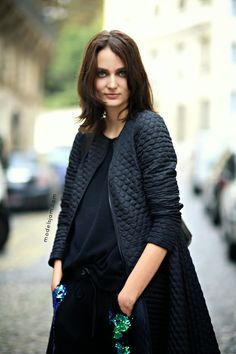 that was a seriously cool outfit. #ZuzannaBijoch #offduty in Paris.