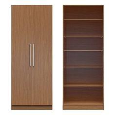 Brand New Manhattan Comfort Chelsea Wide 2 Door Armoire