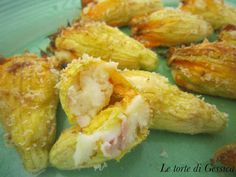 Fiori di zucchina ripieni di patate e prosciutto | Le Torte di Gessica