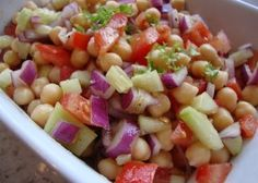 Make and share this Cucumber Chickpea Salad recipe from Genius Kitchen.