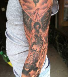 Satan And Angel Tattoo - Arm