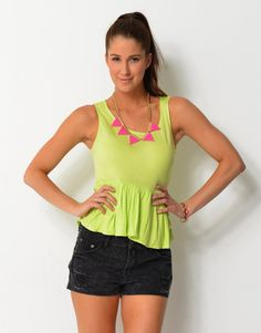 6314967 Peplum Singlet Top Tankini, Peplum, Scoop Neck, Tank Tops, Tees, Swimwear, Women, Fashion, Bathing Suits