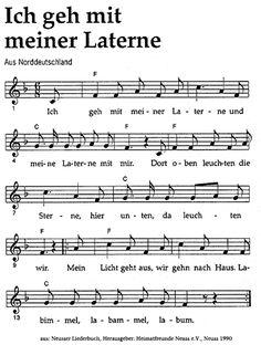 ღღ Sankt Martin (St. Martin), Heiliger Martin von Tours/Lieder/Ich geh mit meiner Laterne