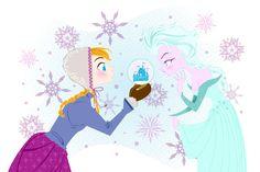 "kathudsonart: "" Disney's Frozen Anna and Elsa "" Anna Frozen, Frozen Fan Art, Frozen Movie, Disney Frozen Elsa, Frozen Snow, Olaf Frozen, Art Disney, Disney Love, Disney Magic"