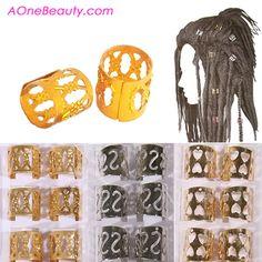 //NEW// Metal Hair Bead Tube Pack http://www.aonebeauty.com/hair-beads/?sort=newest #hairbead #dreadlock #braid