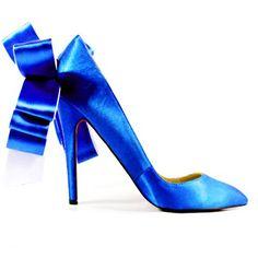 Christian Louboutin Anemone Satin Pumps Blue
