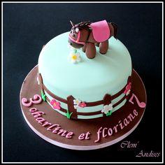 Gâteau cake design cheval