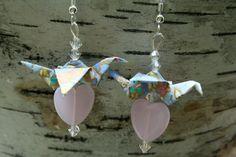 Love Me Tender Origami Crane Earrings... $12