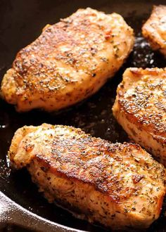 Selecting The Suitable Cheeses To Go Together With Your Oregon Wine Easy Pan-Seared Pork Chops Pan Cooked Pork Chops, Dutch Oven Pork Chops, Pork Chops Cast Iron, Fried Boneless Pork Chops, Skillet Pork Chops, Marinated Pork Chops, Seared Pork Chops, Cooking Pork Chops, Pork Loin Chops