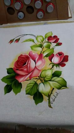 One Stroke Painting, Tole Painting, Fabric Painting, Embroidery Patterns, Hand Embroidery, Fabric Paint Shirt, Fabric Paint Designs, Beautiful Flowers Wallpapers, Color Pencil Art