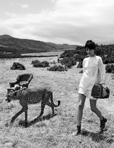 """Louis Vuitton's """"The Spirit of Travel"""" campaign, starring models Karen Elson and Edie Campbell and photographed by Peter Lindbergh."""