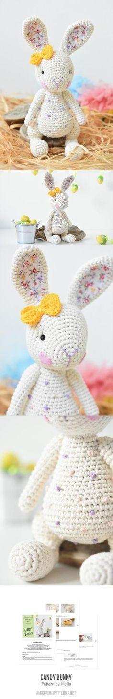 Candy bunny amigurumi pattern #CrochetEaster