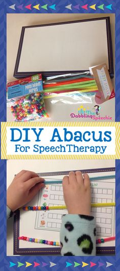 diy abacus for speech therapy to use for articulation and language therapy!