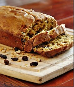 Best bread I have ever tasted! Pumpkin Walnut Raisin Bread. Perfect for fall and the kitchen smells AMAZING! thistlewoodfarms.com