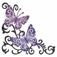 Butterfly Scroll - Ace Points | OregonPatchWorks
