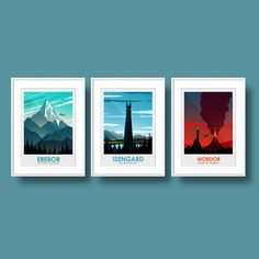 Poster Art Print set of The Lord of the Rings Poster Erebor