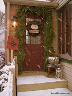we are here to provide you ideas about Christmas porch decoration.So without further ado here are our 25 Amazing Christmas Front Porch Decorating Ideas Front Door Christmas Decorations, Christmas Porch, Primitive Christmas, Christmas Love, Country Christmas, Outdoor Christmas, Winter Christmas, Christmas Entryway, Winter Porch