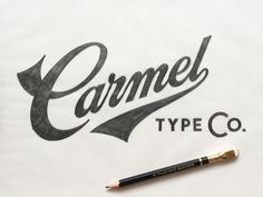 Final sketch of the Carmel Type Co. logo before vector. So proud of this project.   Take a peek at our new site when you have a chance!