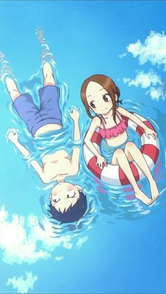 Karakai Jouzu no Takagi-san Loli Kawaii, Kawaii Anime Girl, Anime Art Girl, Cute Anime Pics, Cute Anime Couples, Anime Love, Image Manga, Anime Ships, Animes Wallpapers