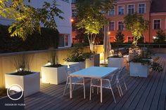 #landscape #architecture #garden #terrace #flowerpot #night