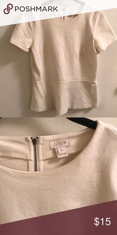Jcrew peplum Jcrew peplum in Cream. Size small. Like new condition. Super cute fit! J. Crew Tops