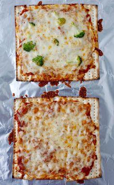 Matzah Pizzas recipe from weelicious.com