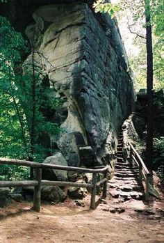 #67951: Fat Man's Squeeze - National Scenic Byways: Digital Library at Natural Bridge in Kentucky