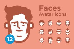 Jimi's Avatar Icons – Mix Set - Icons - 1 Avatars icon set Minimalist face icons