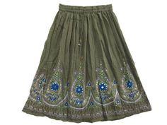Womens Gypsy Skirts, Boho Sequin Skirt Blue Green Floral Motifs Belly Dance Skirt Mogul Interior,http://www.amazon.com/dp/B00BPOWP1W/ref=cm_sw_r_pi_dp_qcjwrbD1ACC64B81