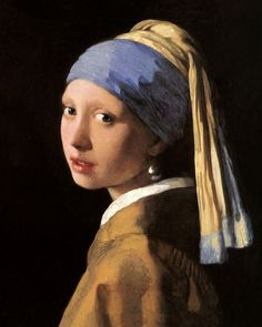 """Images from our art print archives - """"The Girl with a Pearl Earring"""" 1665 by a Dutch master Johannes Vermeer van Delft Baroque Painting, Baroque Art, Painting Of Girl, Johannes Vermeer, Classic Artwork, Classic Paintings, Famous Art Paintings, Artwork Paintings, Girl With Pearl Earring"""