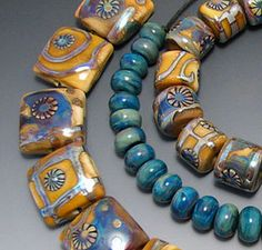 BLUFF Lampwork Beads: Kismet - Love these colors!
