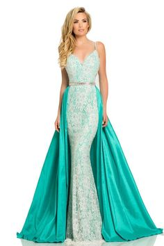 111d622a3d9 All Dresses - Johnathan Kayne Convertible Embellished Gown Stretch Lace