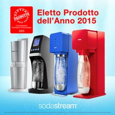 I nostri #gasatori Play, Source, Revolution e Crystal hanno vinto il premio Prodotto dell'Anno 2015! #acqua #acquafrizzante #design #food