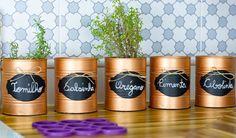 Tu Organizas.: Latas na decoração | Ideias para a cozinha