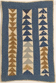 I love these old quilts.  They remind me that perfect symmetry in quilts is a modern feature.  Old quilts are beautiful, yet, their quilters MADE things fit.  ...Barbara Brackman's MATERIAL CULTURE: Free Label for Your Union Blues Quilt