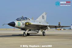 SAAB Drakken of the Swedish Air Force Historic Flight at Jersey Airport #military #jet #fighter #single #classic #aircraft #egjj #sweden
