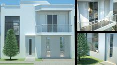 Casa Moderna Minimalista Diseño de interiores (Prado verde) 2 pisos 156 m²