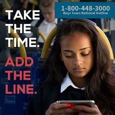 There's no better way to spend the next 30 seconds than by adding the Boys Town Hotline into your child's phone. Help is just a call away at 1-800-448-3000. Add it to your child's phone or save it in your own. You can also text VOICE to 20121 or visit YourLifeYourVoice for more resources. Help is here. #SuicidePrevention #SuicideAwareness #TakeTheTimeAddTheLine #SuicidePreventionMonth