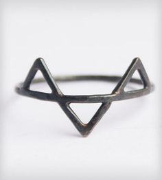 Black Three Spikes Ring by SteFanie Sheehan Designs on Scoutmob Shoppe