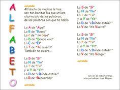 Canción: La salsa del alfabeto Una manera divertida para revisar la pronunciación de las letras del alfabeto en español.